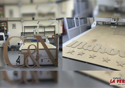 Corte en madera, sistema CNC