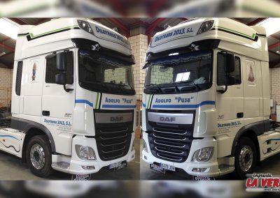 Rotulación de camion Daf para la empresa Dilotrans 2013