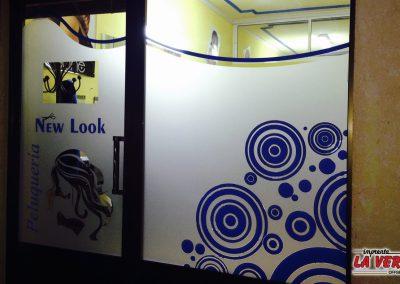 Rotulación de peluquería NEW LOOK