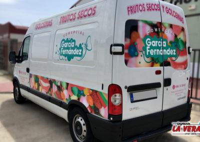 Diseño de marca y rotulación para COMERCIAL GARCIA FERNANDEZ