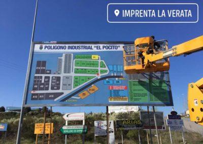 01 Vaya publicitaria del Polígono Industrial El Pocito de Jaraíz de la Vera
