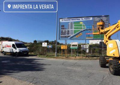 02 Vaya publicitaria del Polígono Industrial El Pocito de Jaraíz de la Vera