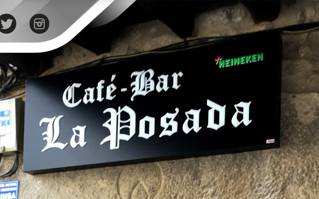 "Rótulo ""Cafe-Bar La Posada"""