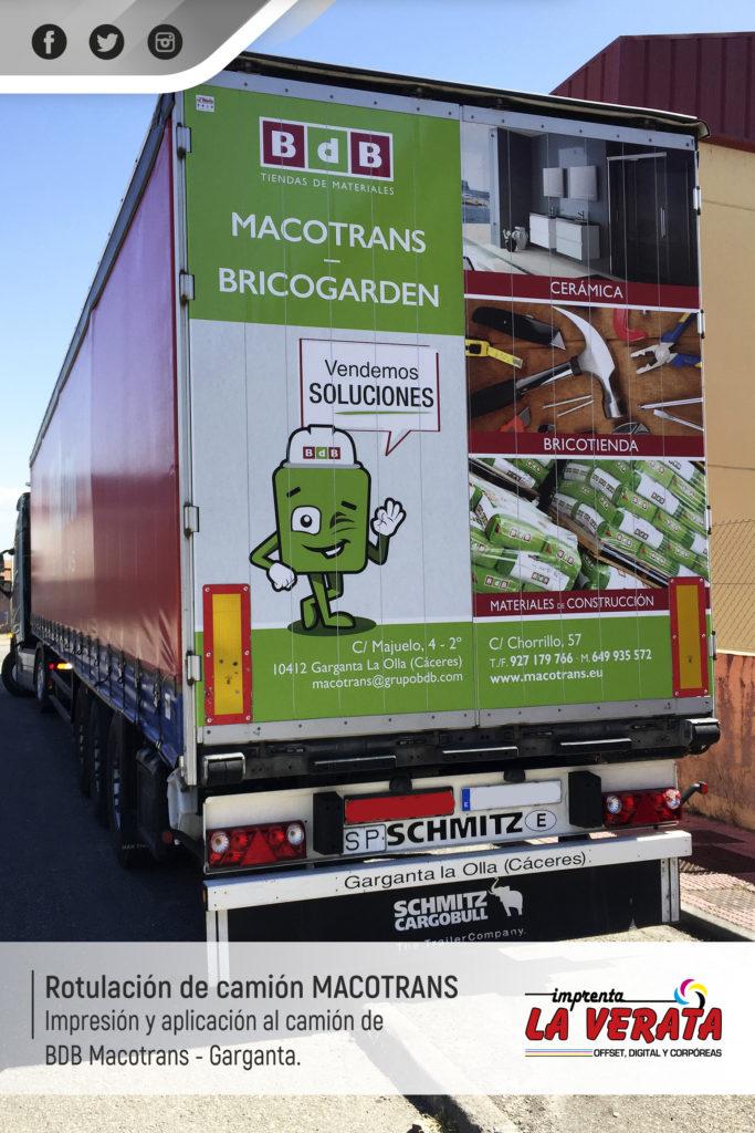 MACONTRAS GARGANTA - rotulacion de camion con vinilo impreso y laminado