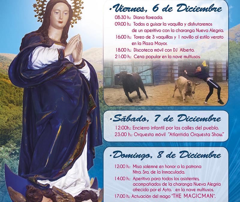 Fiestas en Honor a la Inmaculada Concepción en Valdeiñigos